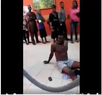 Man Strips Naked in GTB After Money Mysteriously Disappears from His Account