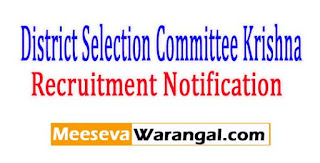 District Selection Committee Krishna Recruitment Notification 2017