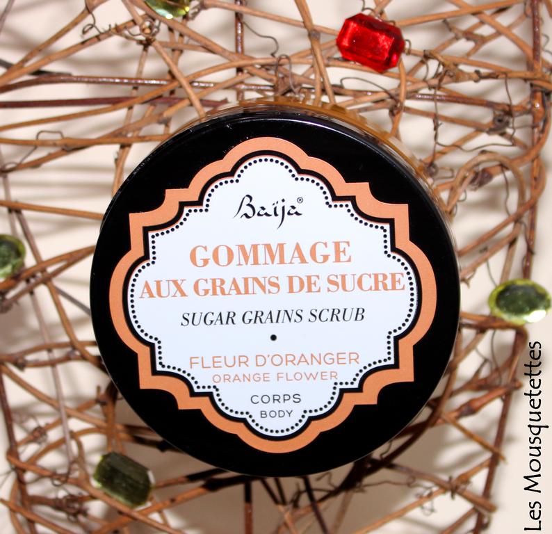 Gommage aux grains de sucre et fleur d'oranger Baïja - Les Mousquetettes©