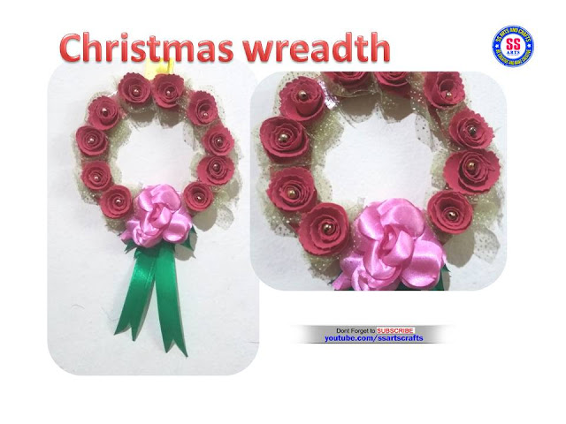 Here is how to make christmas wreadth,foam craft ideas,how to make christmas ornaments at home,how to make christmas decorations,foam flower at home,christmas roses wreadth at home,how to make foam roses christmas wreadth at home ssarts crafts nanduri lakshmi youtube channel videos