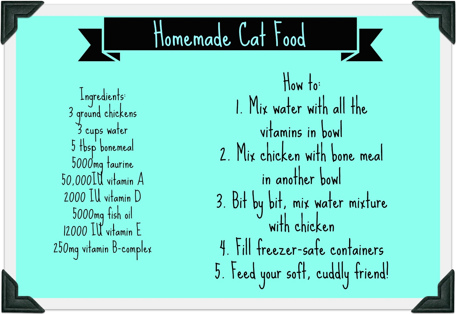 Affordable Homemade Cat Food