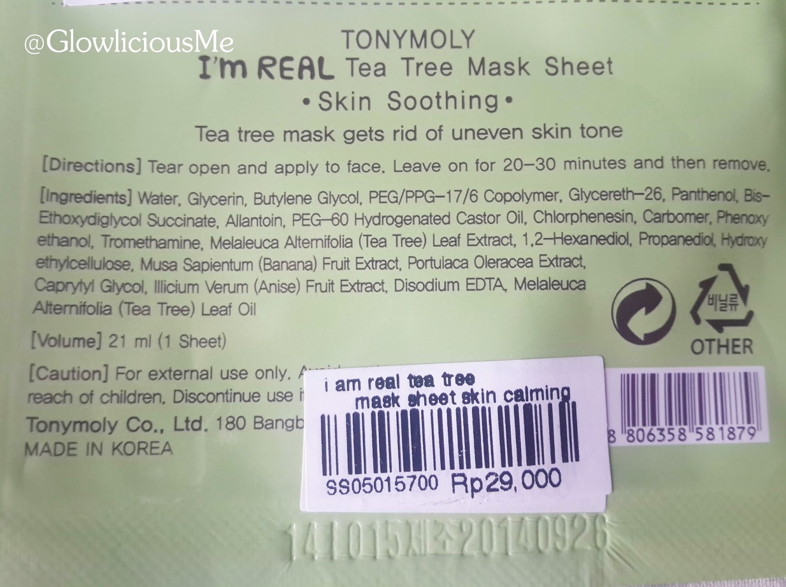 I'm Real Tea Tree Sheet Mask by TONYMOLY #19