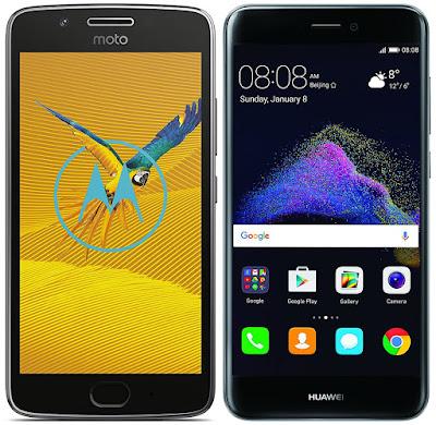 Huawei P8 Lite (2017) vs Motorola Moto G5 (3 GB RAM)