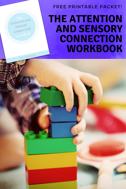 This free printable workbook is a helpful tool in explaining how attention and sensory are connected and can help parents, teachers, and therapists to address attention through sensory processing strategies.