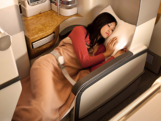 Flat Bed Business Class Seats Emirates A380