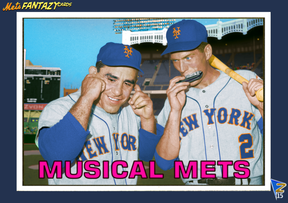 Mets Baseball Cards Like They Ought To Be Yogi Berra Phil Linz