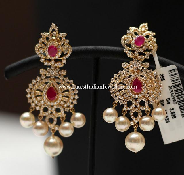 Dazzling Diamond Ruby Earrings