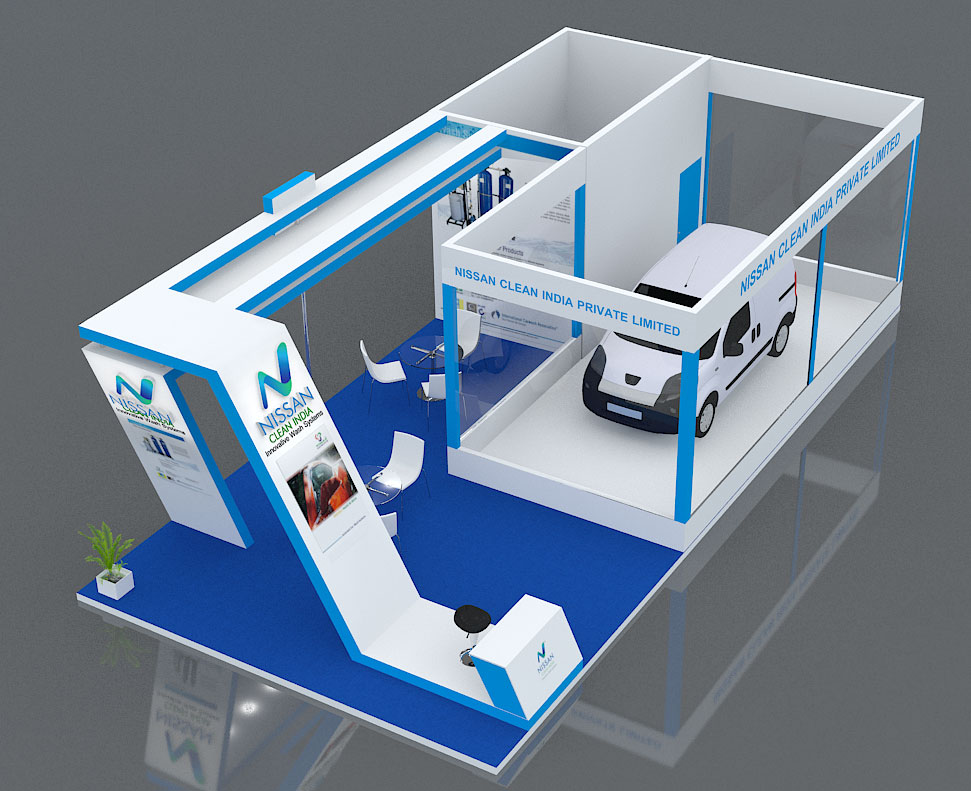 Saravanan designs 12m x 4m nissan clean india stall designs for Kitchen designs 3m x 4m