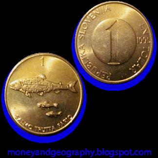 Slovenia 1 Tolar coin, 1995
