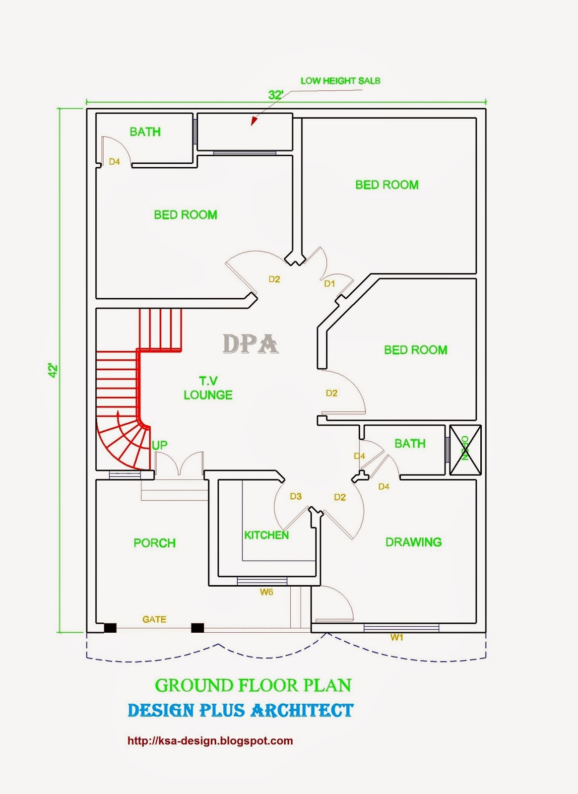 Autocad Home Plan Design