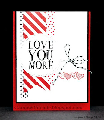 Tuesday Tutorial 83, Stamp with Trude, Valentine, Love, Stampin' Up!