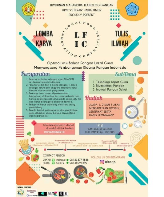 Contest Local Food Innovation Competition 2018