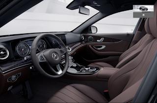 Nội thất Mercedes E250 2018 màu Nâu Hazelnut / Nâu Espresso 814