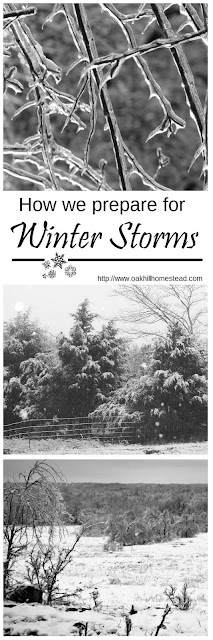 How to prepare for winter storms. Don't wait until the day the storm hits!