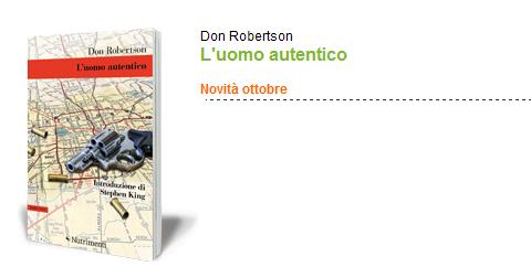In uscita un romanzo inedito di Don Robertson con un'introduzione di Stephen King