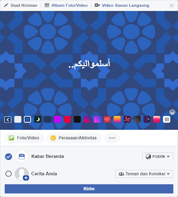 Contoh gambar update status huruf arab di facebook