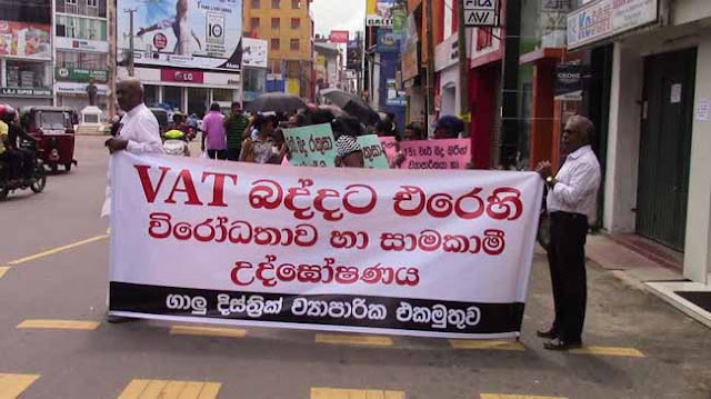 Galle traders stage protest