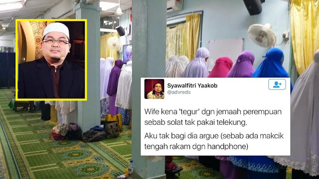 """Macam Tu Selamber Rakam Aksi Wife Aku Yg Tak Pakai Telekung, Aku Tak Kasi Argue Sebab . . "" Tidak Sahkah Solat Tanpa Terlekung? Ini Jawapan Ustaz Dr…"