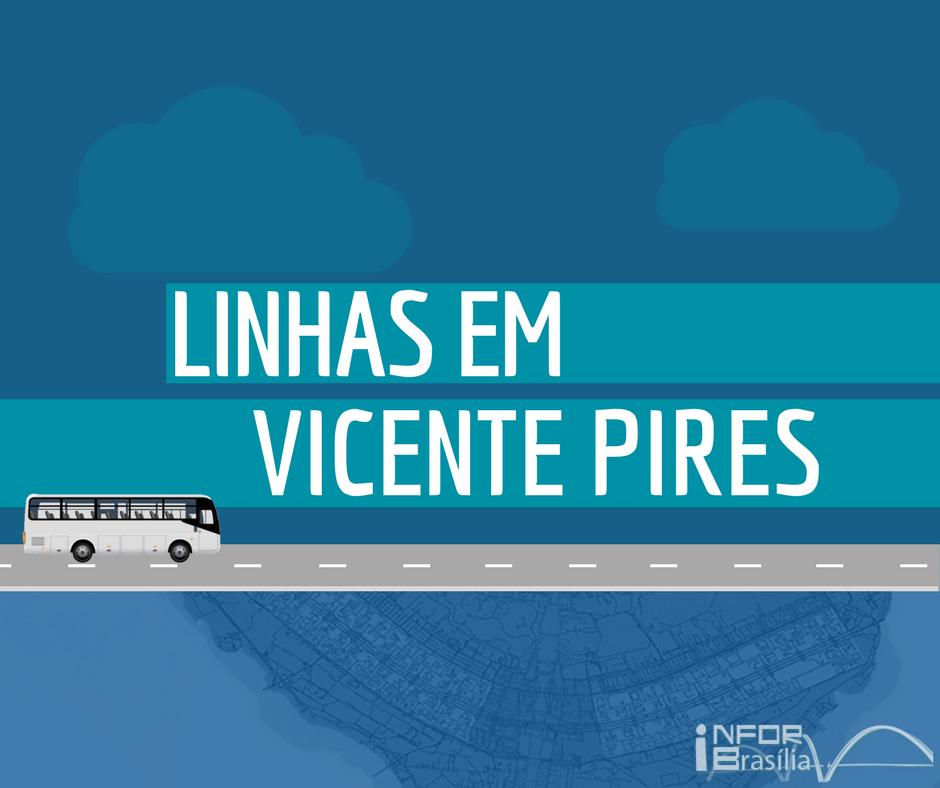 Horário de ônibus das linhas do Vicente Pires