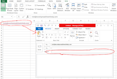 excel email hyperlink