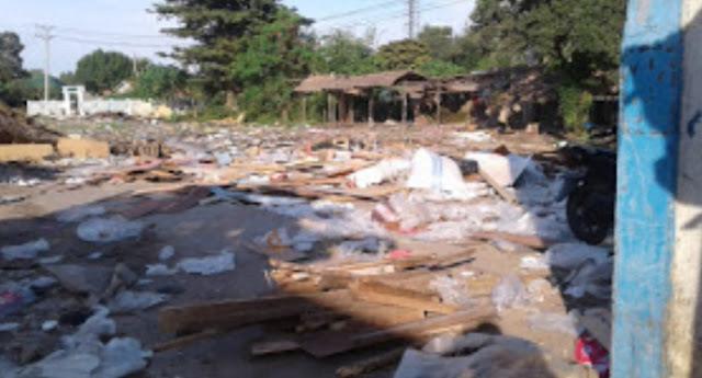 Eks Pasar Terpedo Indralaya Dipenuhi Sampah, Pemkab OI Terkesan Tutup Mata