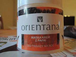 Orientana Maska-Krem z Papai, czyli dlaczego tak lubię maski na noc