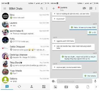 BBM Android Tema Iphone Terbaru