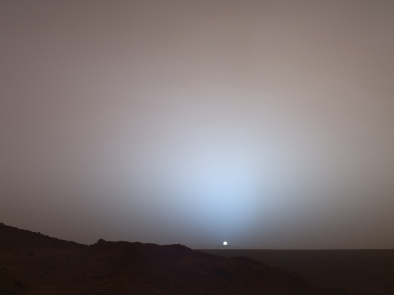 Sunset on Mars: A Moment Frozen in Time | Earth Blog