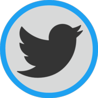 twitter button outline