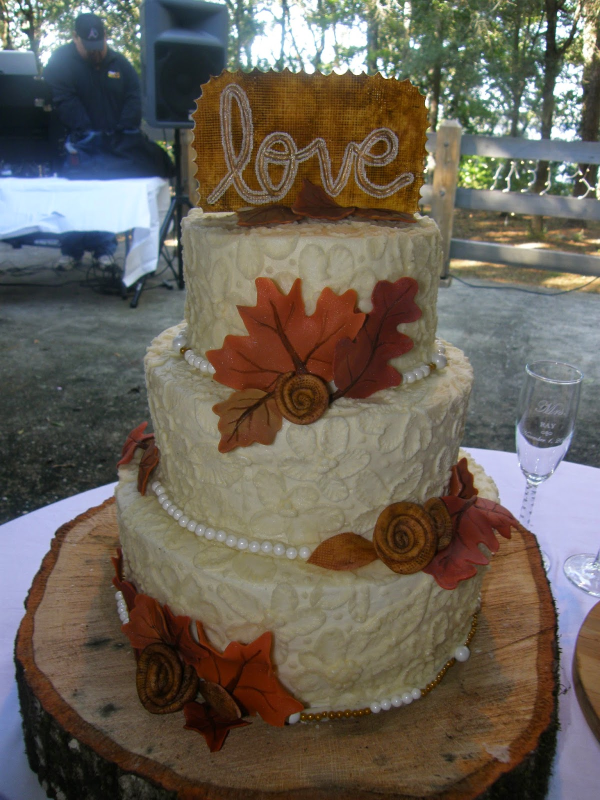 Mrs Lydia S Kitchen Autumn Leaves Wedding Cake