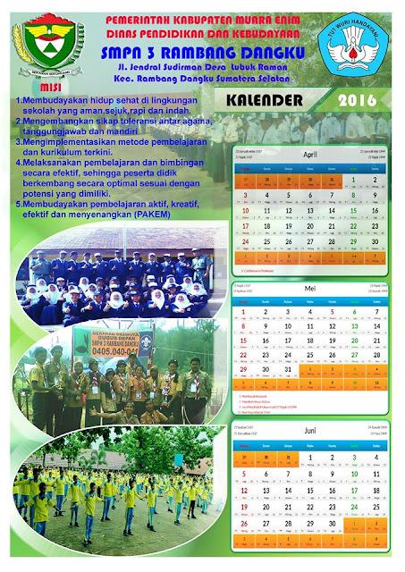 gambar contoh kalender sekolah