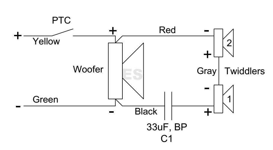 bose 501 woofer wiring diagram