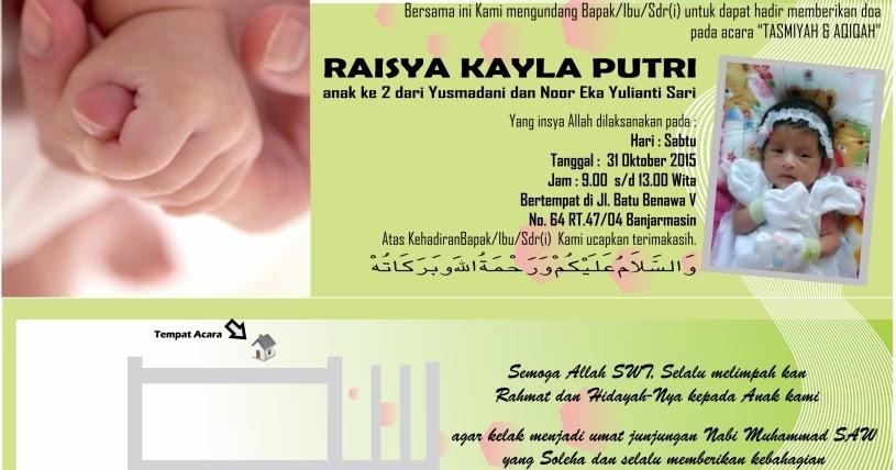 Download Contoh Template Undangan Syukuran Aqiqah Gratis Tutorial