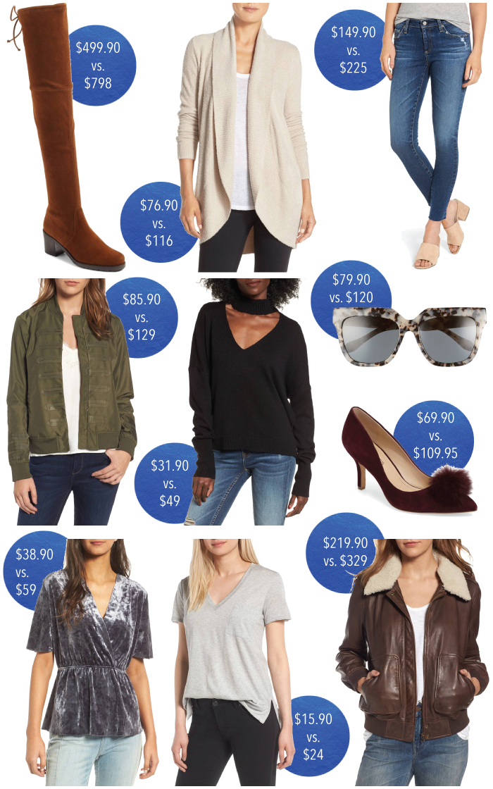 2017 nordstrom anniversary sale, Nordstrom anniversary sale, Nordstrom sale, Nordstrom picks, Nsale, a style caddy, Stuart weitzman over the onee boot, barefoot dreams cardigan, ag legging jeans, chelsea28 military bomber jacket, bp cutout sweater, sonix sunglasses, chelsea28 velvet top, lush tee, treasure & bond leather jacket