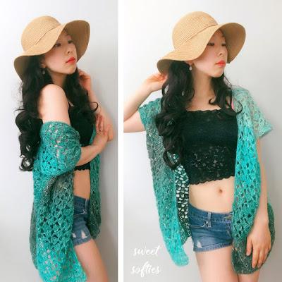 Beach Breeze Kimono Top (Free Crochet Pattern)