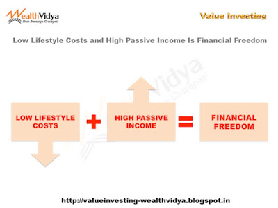 Low Lifestyle Costs and High Passive Income Lead to Financial Freedom.