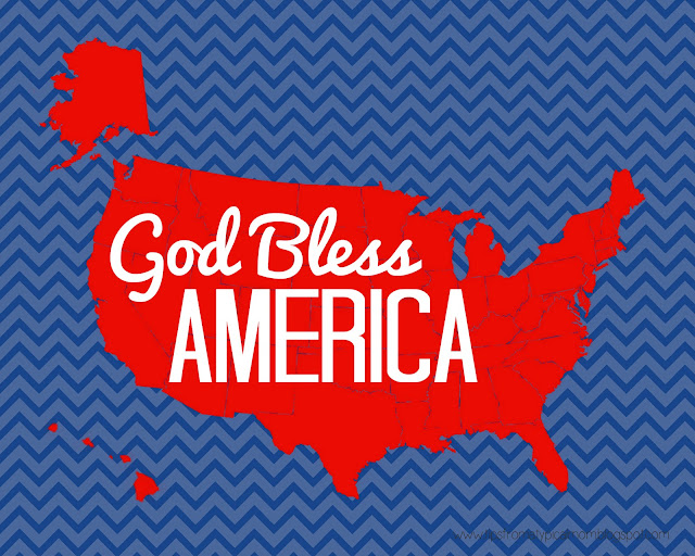 FREE Patriotic Printable God Bless America Tips From