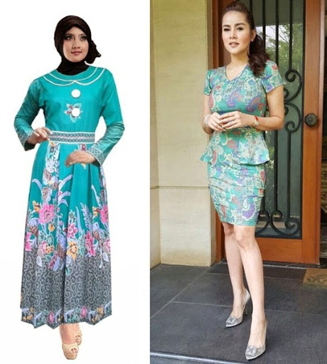 dress batik simple elegan