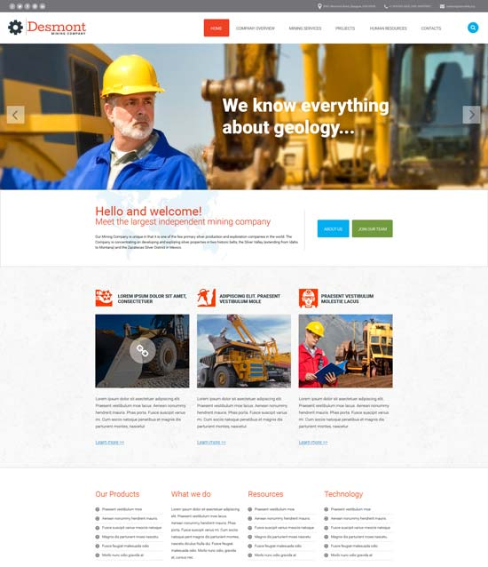20 Best Industrial Website Templates 2016 - Designsmag.org