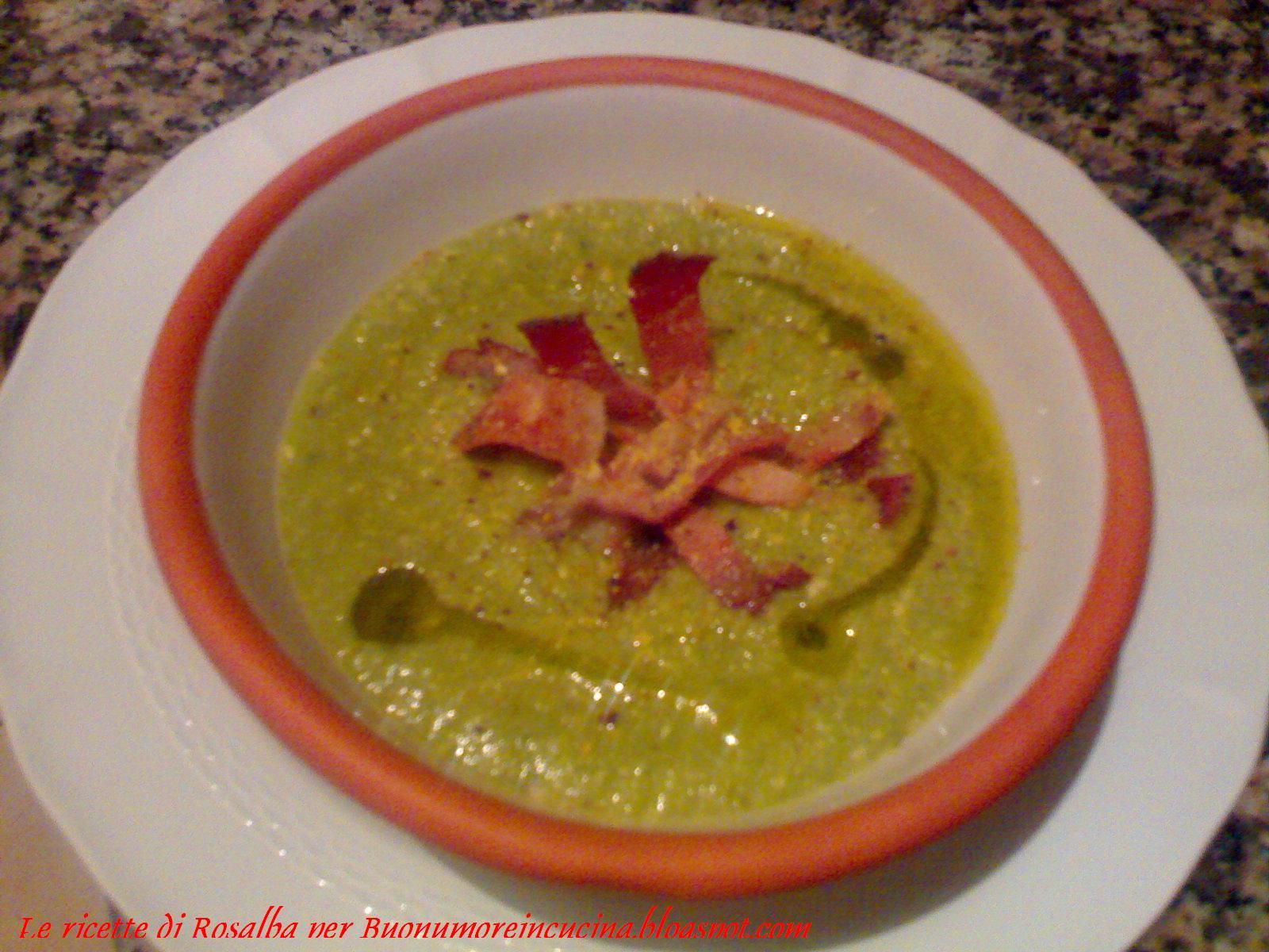Buonumore In Cucina Vellutata Di Zucchine Con Speck Croccante E