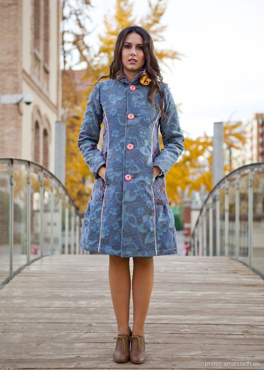 Jacquard cotton coat - Senorita Martita FALL-WINTER street style by Amanda Dreamhunter - made in Spain