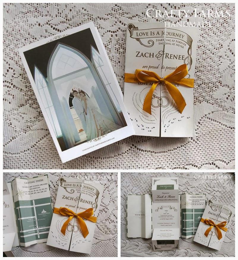 Wedding Card Malaysia Crafty Farms Handmade Custom Old