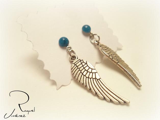 pendientes con forma de alas