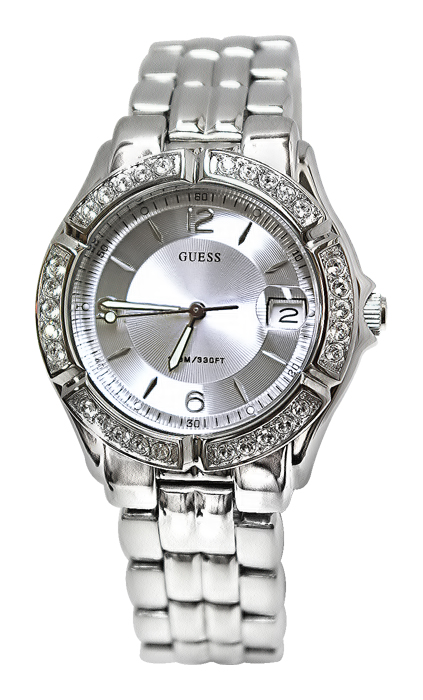 Guess Silvertone Dazzling Midsize Sport Watch