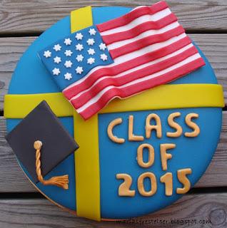 Sverige USA tårta