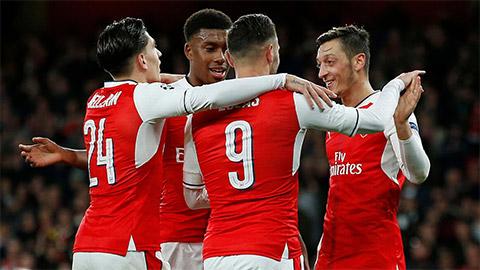 Trên sân nhà, thành tích đối đầu của Arsenal với các đội bóng đến từ Pháp có vẻ tích cực.