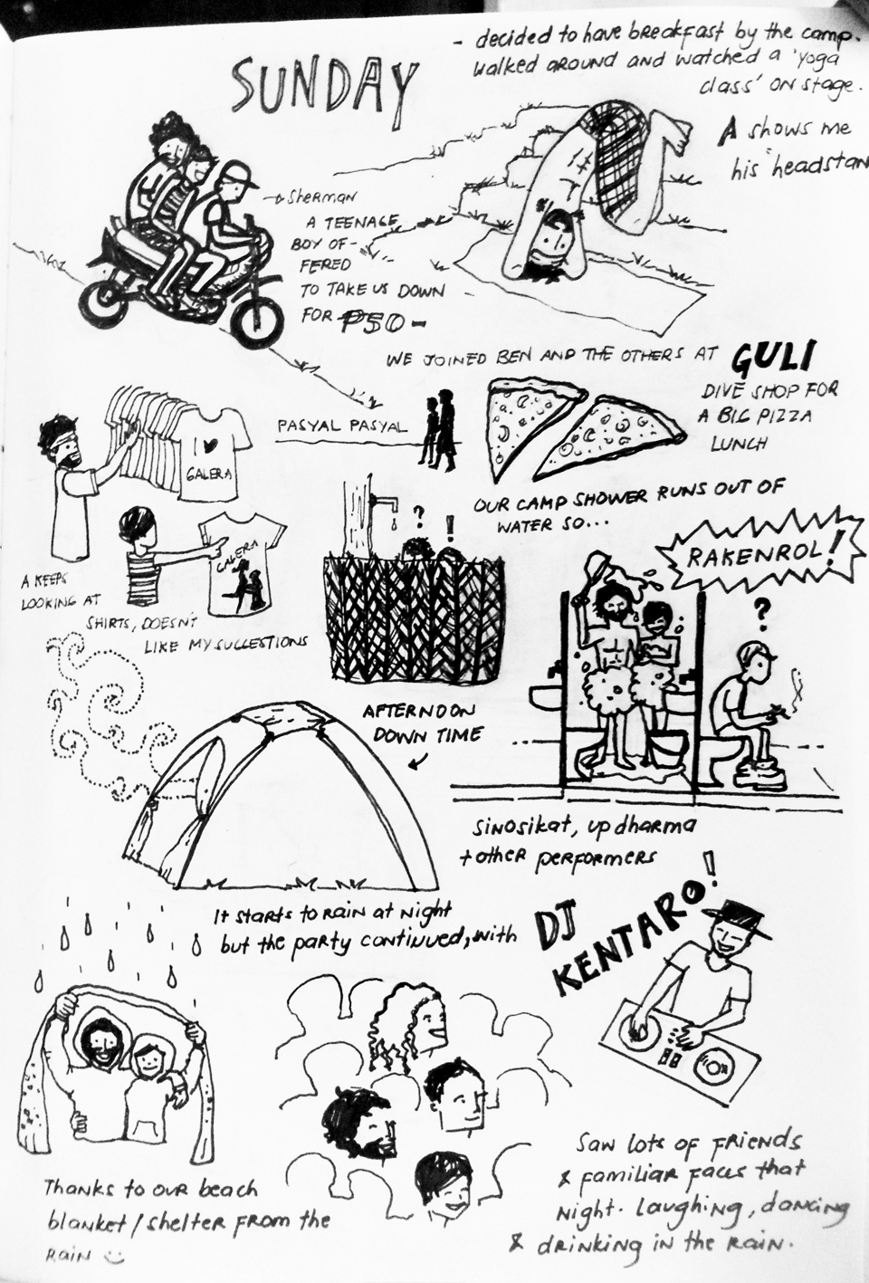 The Happy Factory: Doodles: Malasimbo Music and Arts Festival