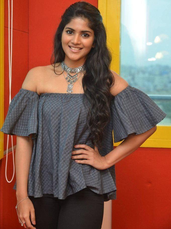 Megha Akash at Radio Mirchi for LIE Movie Promotions