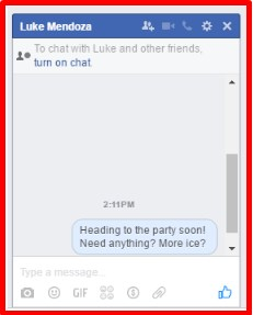facebook messages login