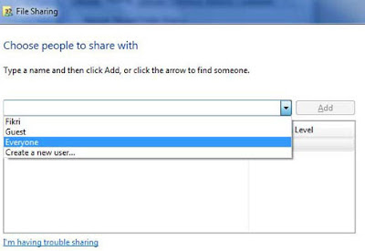 Cara Sharing Folder Di Windows 7